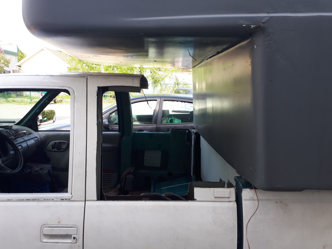 Photo de la modification de la cabine du pick-up